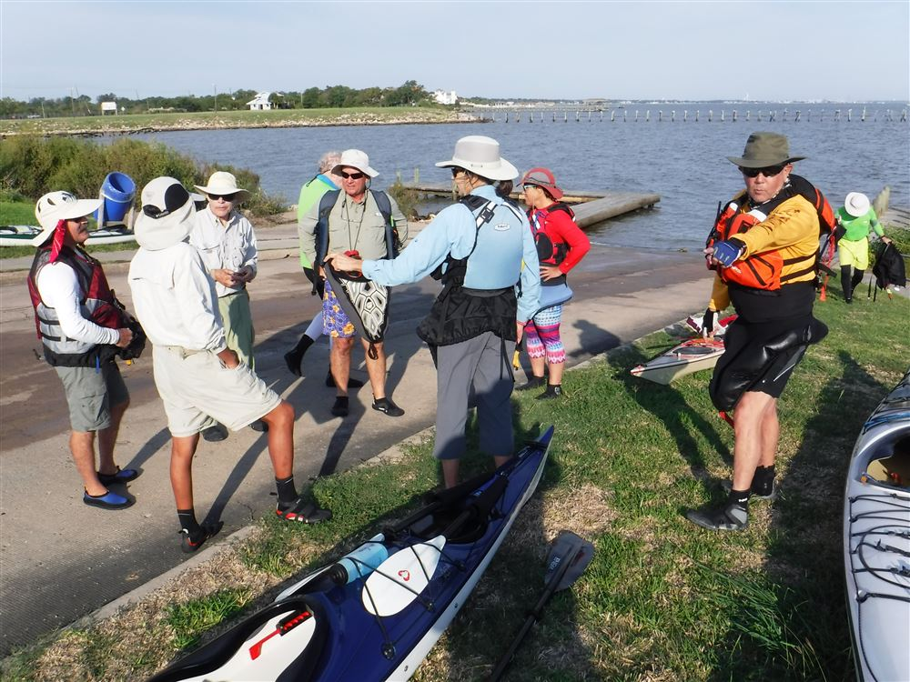 Donna Kouwe trip, Jim Harrington deputy lead, in fun wind swell from Bayshore Park to Redfish Shoal.
