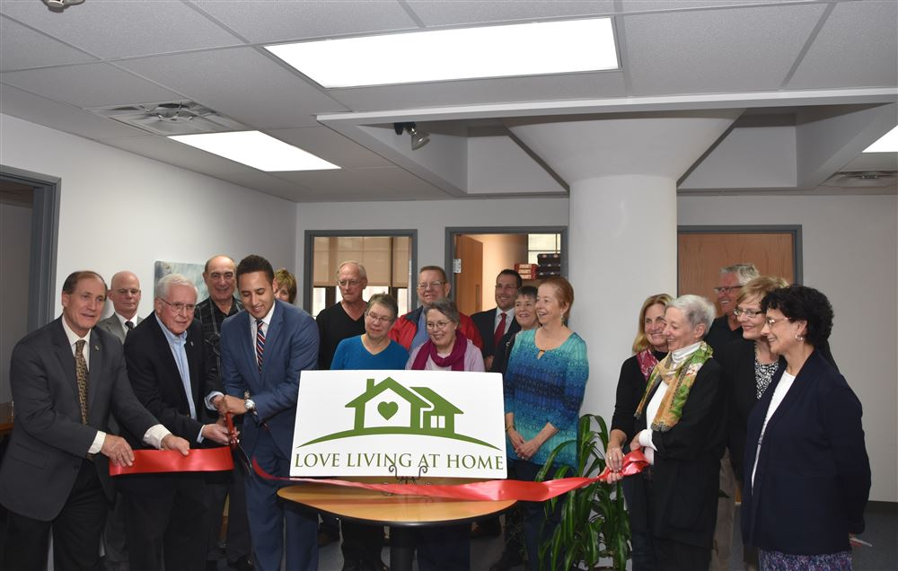 Ribbon Cutting with the LLH Board, Mayor Svante Myrick, The Chamber of Commerce and Downtown Ithaca Alliance