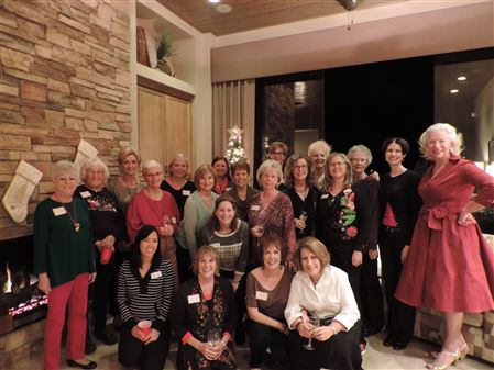 Very Merry Christmas Party.  Great conversation and of course great Soroptimist Food!  Thank you to our host Arlene.