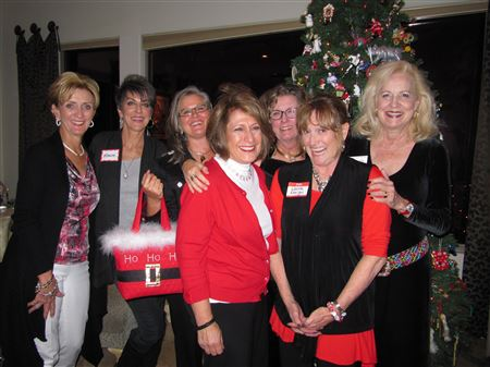 Fun time at the Women Who Wine social event at Renee's home decorated so beautifully.