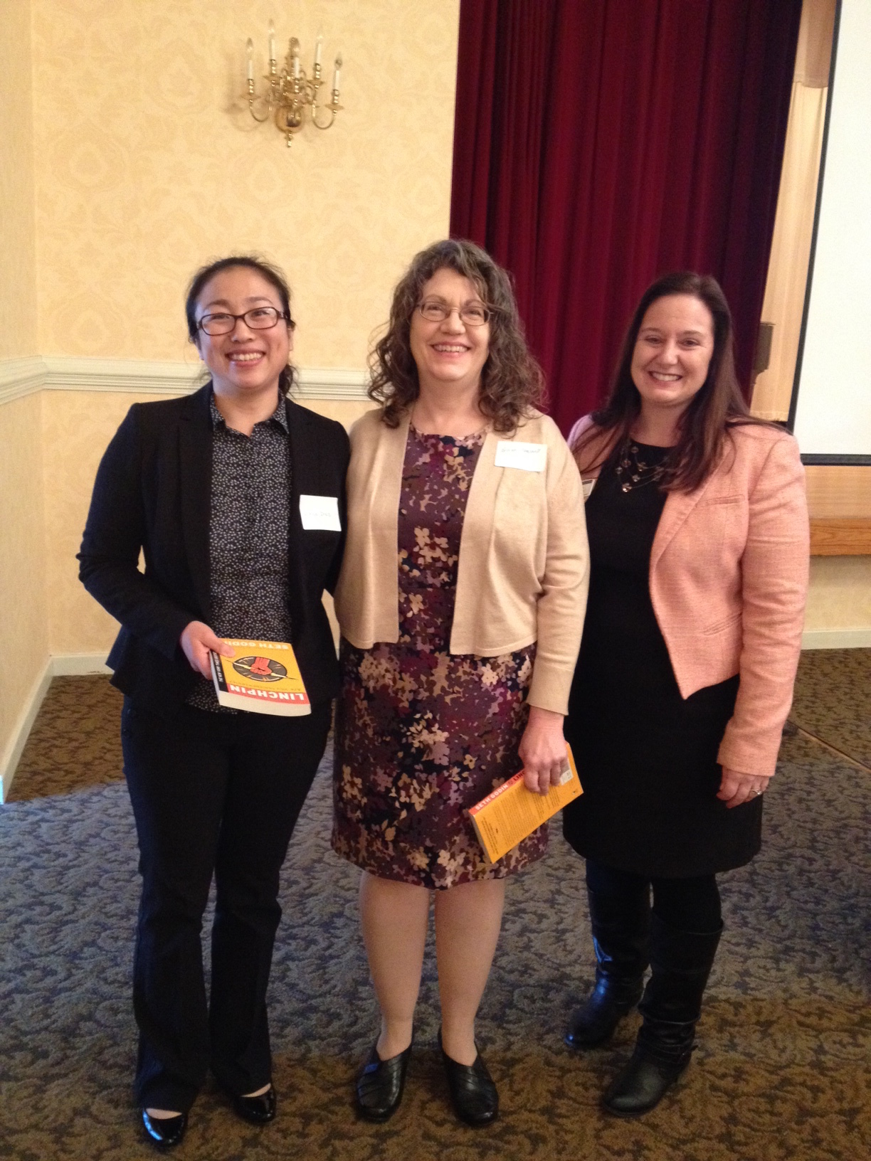 Lihua Zhao and Virginia Campbell with RPWF President Net Stangle-Castor