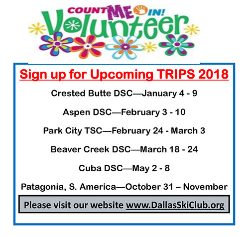 Go on a Trip and Sign up to Volunteer!