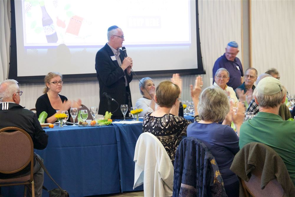 Last night seder held on April 17th at Temple Isaiah with over 100 attendees.