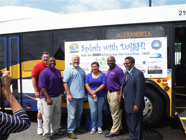 The kickoff of the chapter's partnership with Dash Bus Service and the Department of Recreation, Parks and Cultural Activities for the City of Alexandria, Virginia