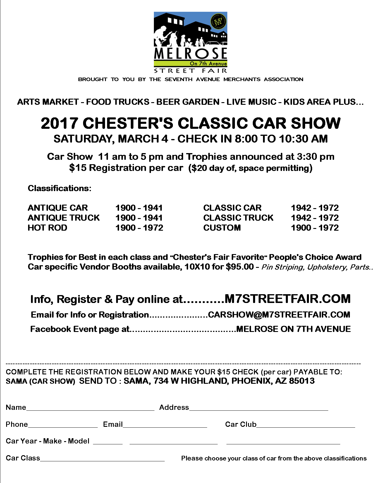 15th Annual Chester\'s Classic Car Show - Events - 7th Avenue ...