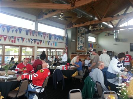 WHYC Members enjoyed watching the Stanley Cup Final games at the club ~ Impromptu Event with great turn outs!