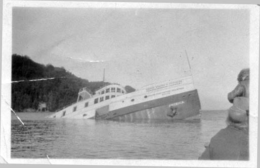 America Wreck Historical Photo