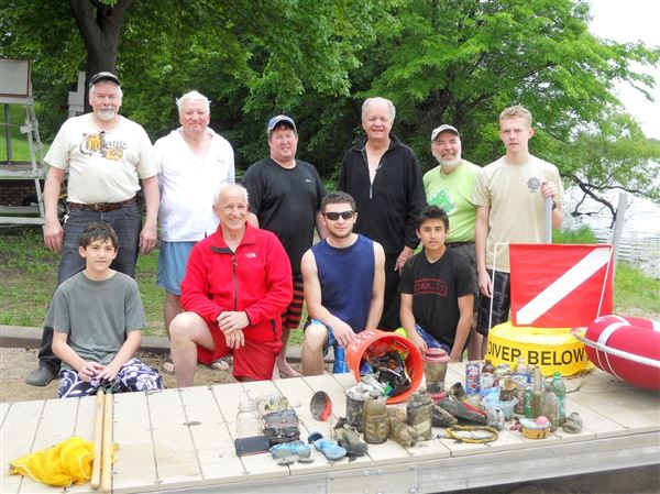 GLSPS Involved with BSA Venture Crew 820 on the Lake Phalen Beach Cleanup.