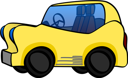 Yellow Car Cartoon