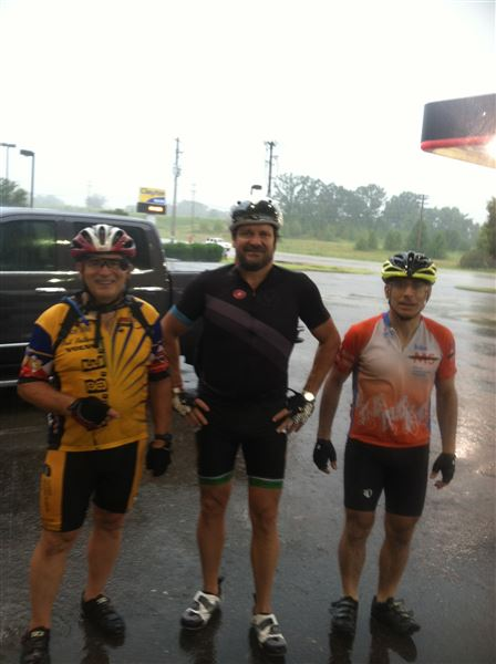 Rain, fewer riders, more fun.