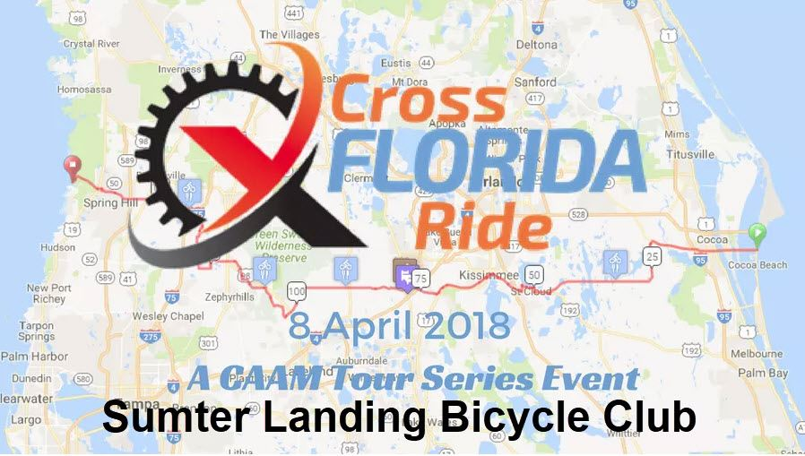 Sumter Landing Bicycle Club Team of 16 Two Day Riders and 6 One Day Riders.