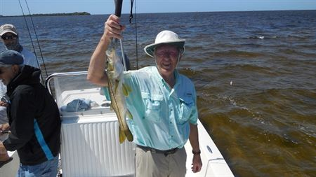 Neil, Al and Roger caught 1 sea trout, 1 flounder, 1 red fish and 43 snook.