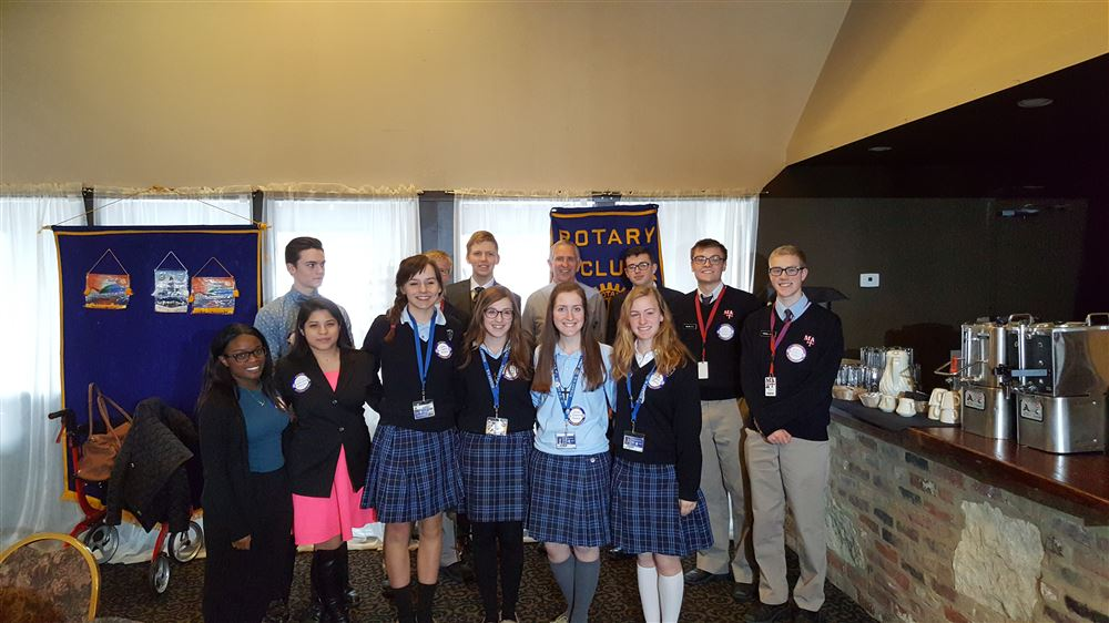 The Rotary Club of Aurora has area high school students share their high school experience and future plans with us several time throughout the year.