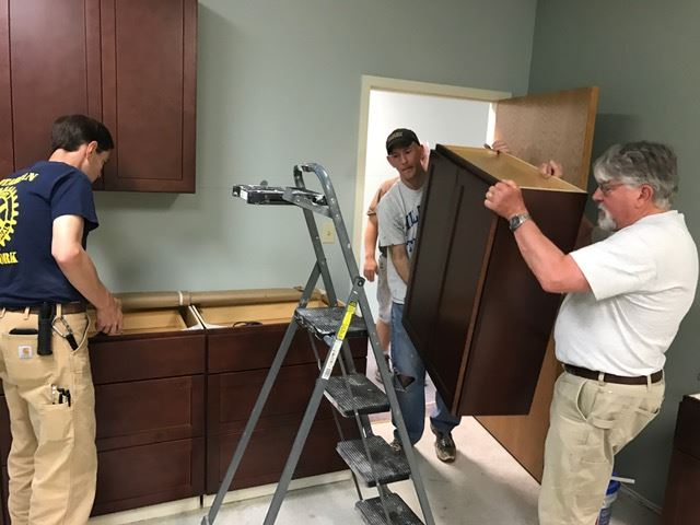 May 12-13, 2017 Aurora Noon Rotary Club joined forces with Aurora Sunrise, Oswego & Montgomery Rotary Clubs donating funds and labor to renovate Mutual Ground offices in Aurora, IL.