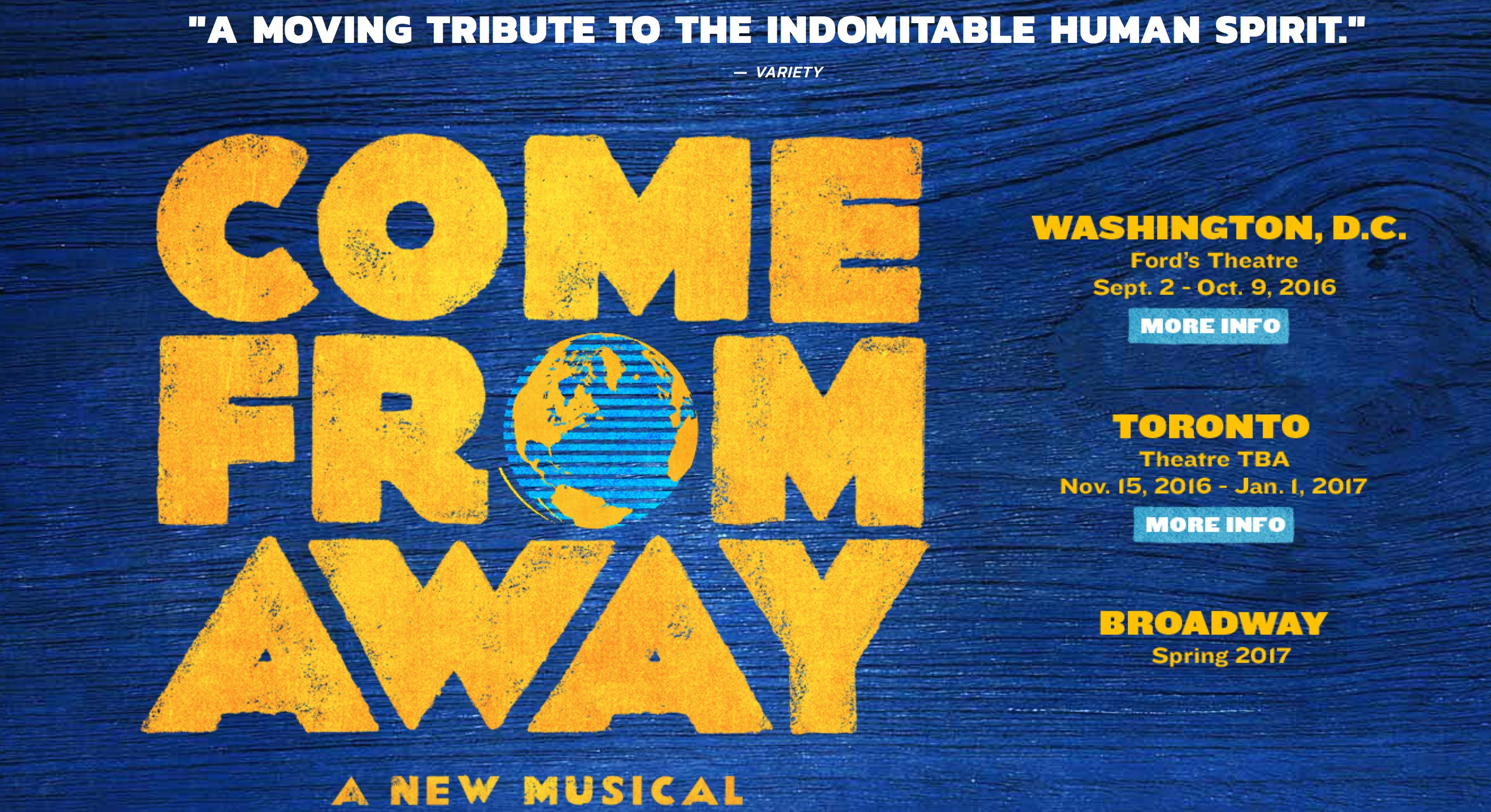 Come From Away dates
