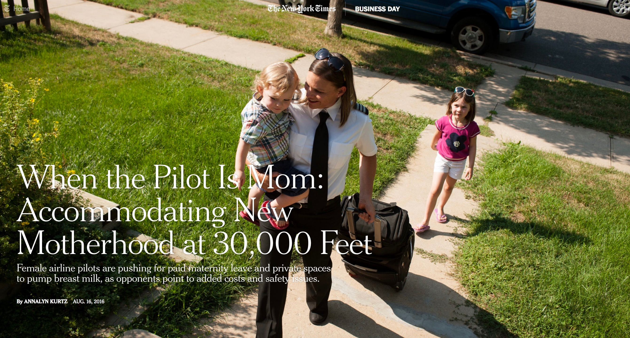 When the Pilot is Mom
