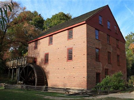 Colvin Run Mill, Built in 1802, Powered by Overshot Wheel, Operational