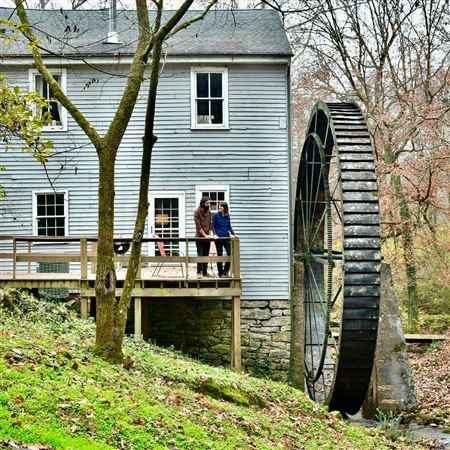 Riverdale Mill, Grist Mill, Built in 1858, Powered by Overshot Wheel, Non-Operational, Private Residence