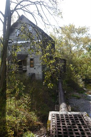 G.T. Wilburn Mill, Built in 1823, Powered by overshot wheel and Turbine, Non-Operational.