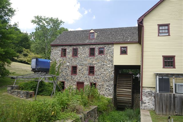 Green Bank Mill, Built in 1790, Powered by Overshot Wheel, Non-Operational