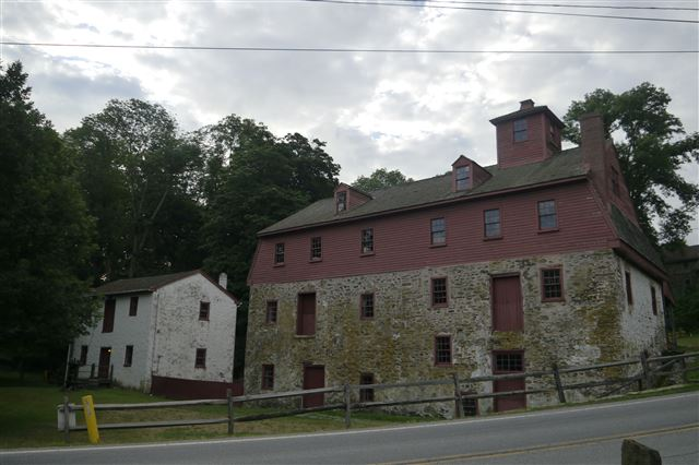 Newlin Grist Mill, Built in 1704, Powered by Internal Overshot Wheel, Operational