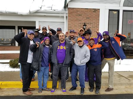 Iota brothers during annual trip to Detroit for Bears Lions