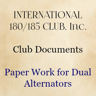 Paper work for dual alternators