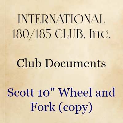 "Scott 10"" Wheel and Fork (copy)"