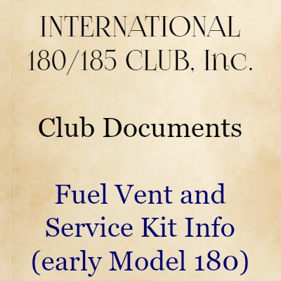 Fuel Vent and Service Kit Info
