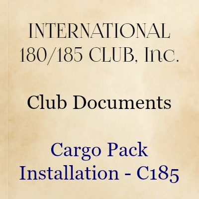 Cargo Pack Installation—C185
