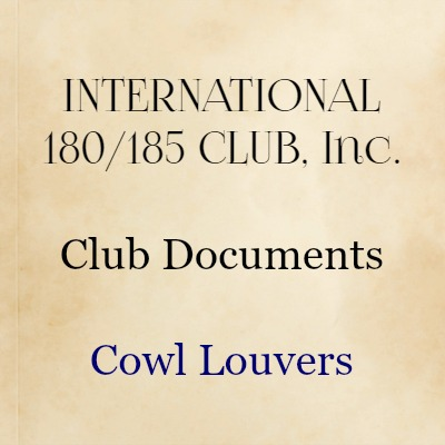 Cowl Louvers (Owned by Club)