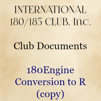 180 Engine Conversion to R (copy)