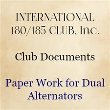 Paper work for dual alternators - click to view details