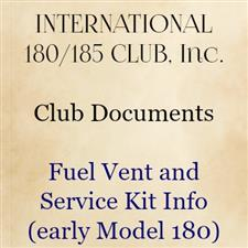 Fuel Vent and Service Kit Info - click to view details