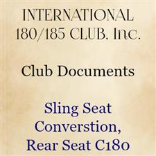 Sling Seat Conversion, Rear seat C180 - click to view details