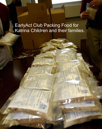 EARLY ACT:    EarlyAct™ is a school-wide service club for elementary students from ages 5 to 13. It is sponsored by one of the local Rotary clubs in the township in which the school is located. The mi