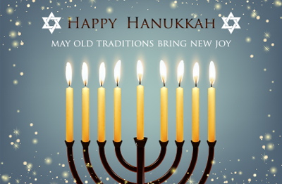 Wishing you and your family a very Happy Hanukkah