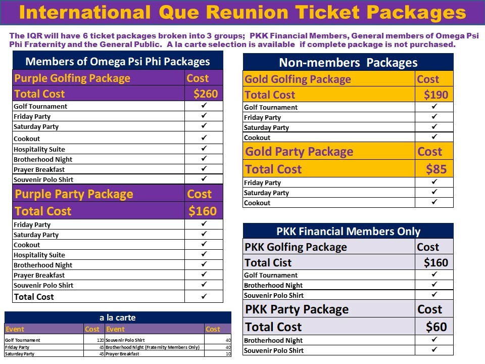 IQR Online Ticket Packages