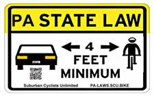 Four Foot Law Sign - click to view details