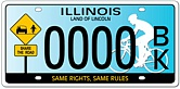 Share the Road - Illinois license plates