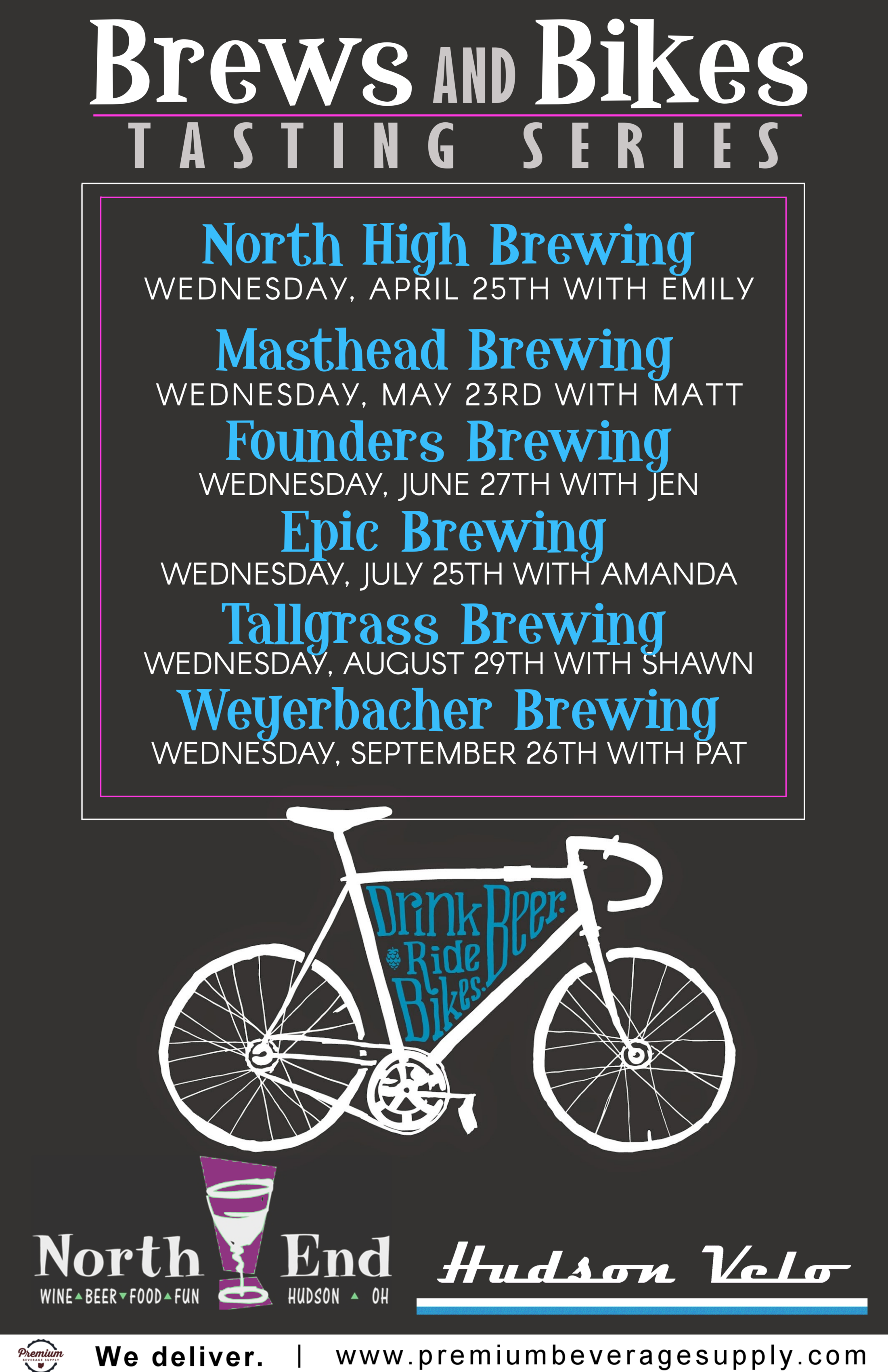 Brews and Bikes Tasting Series