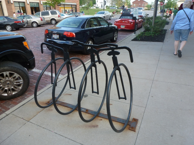 bike rack row