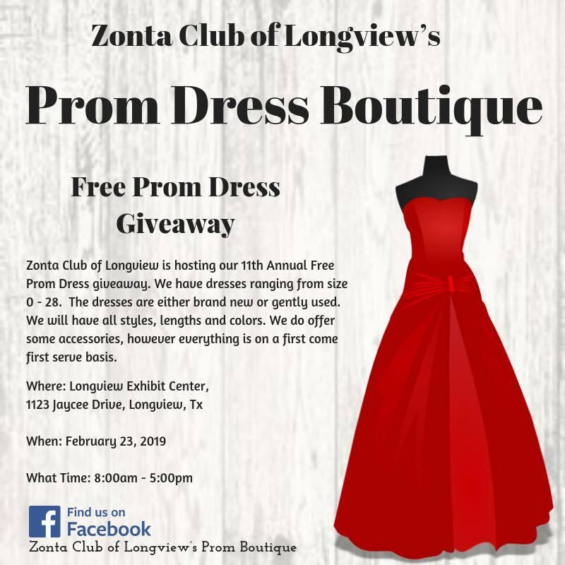 Prom Boutique Zonta Club Of Longview