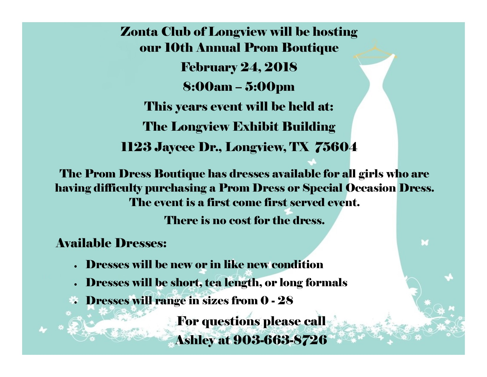 Prom Boutique - ZONTA Club of Longview