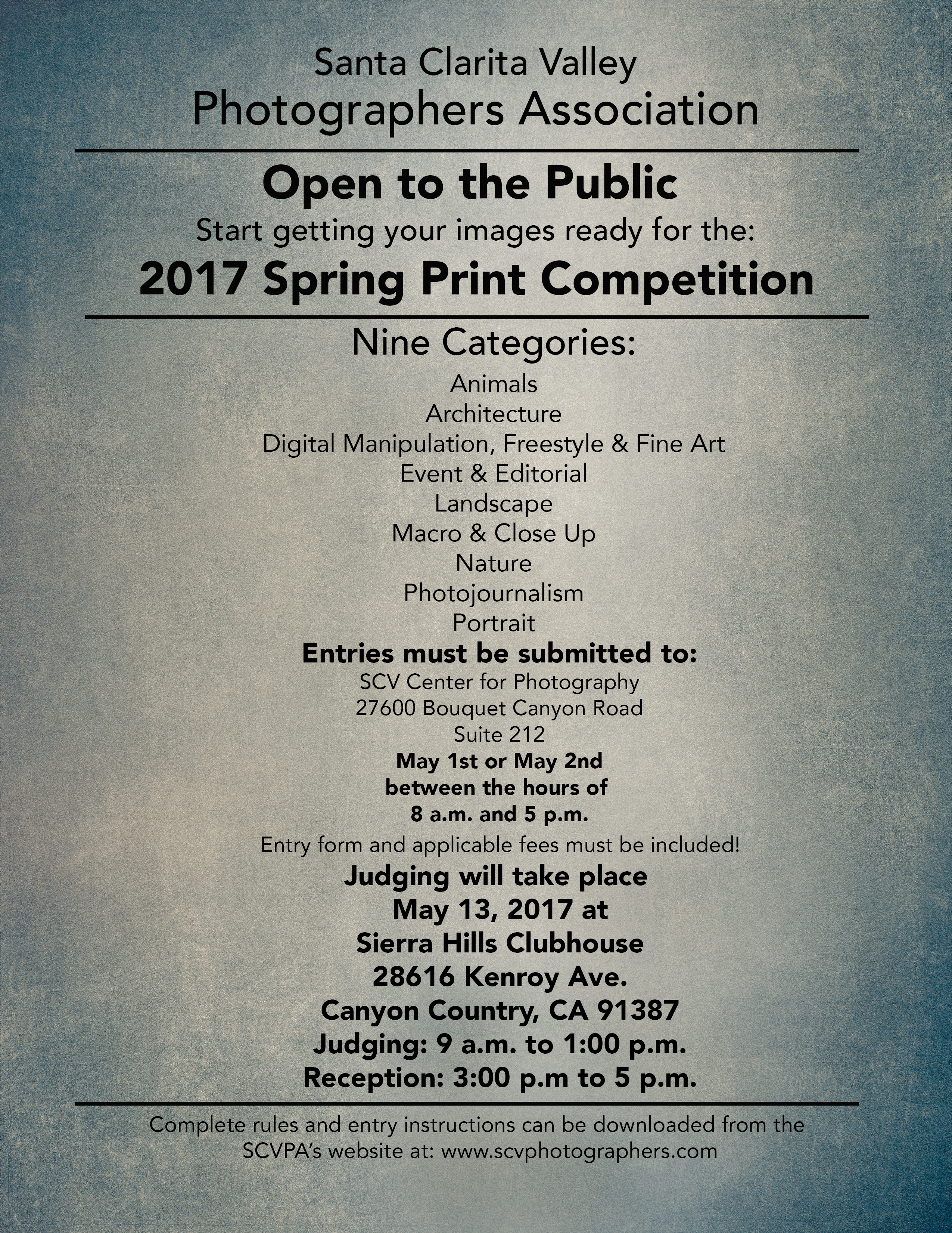 2017 Spring Print Competition