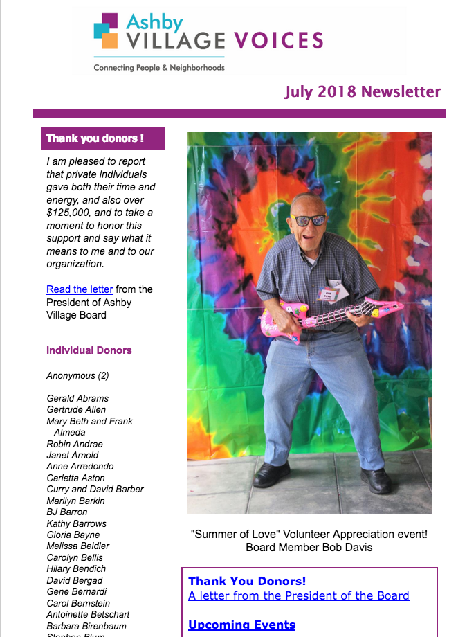 July 2018 newsletter image