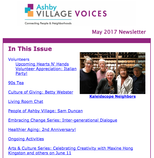 May newsletter cover