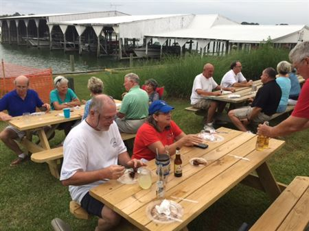 SCBC gathering at Deltaville Boatyard & Marina - Jackson Creek - Quentin Haynie was host