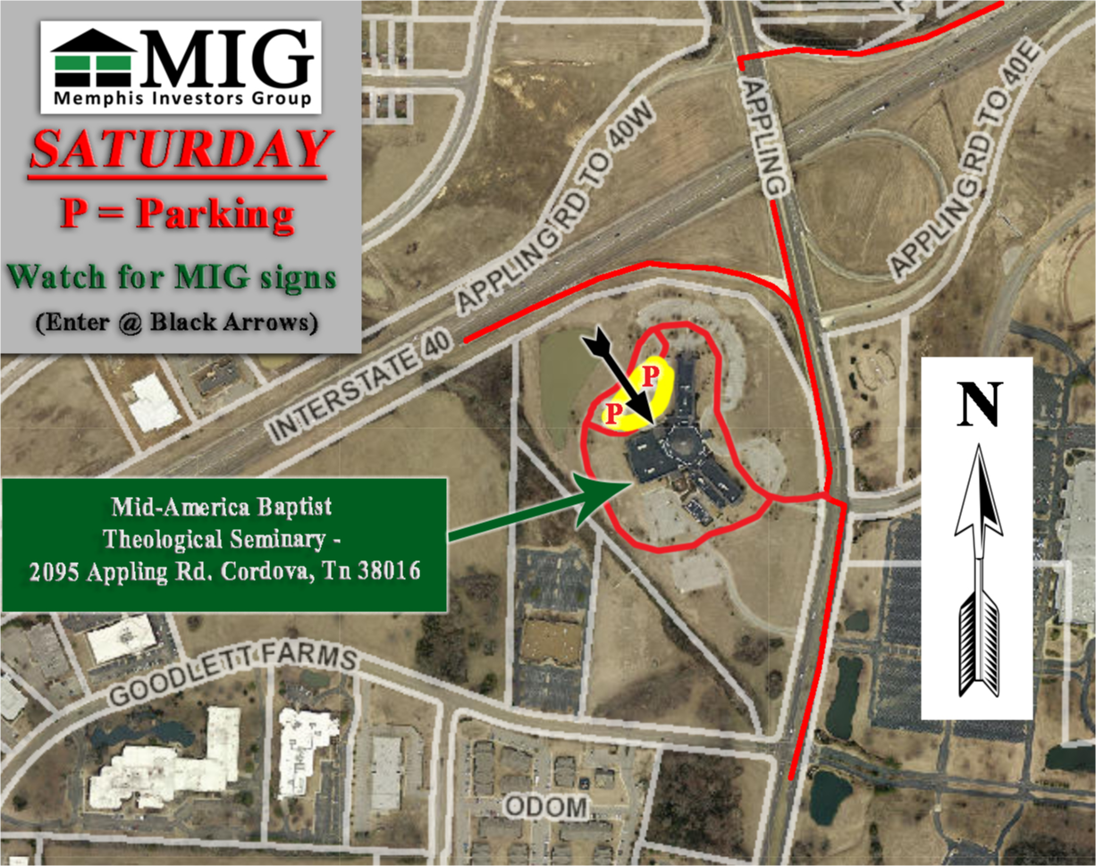 MidAmerica Saturday Parking Map