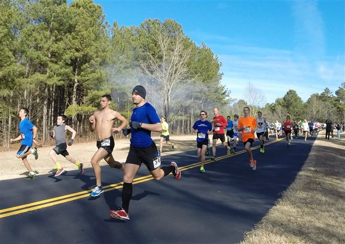 Photos from the start of the 2014 Race for the Grasshopper 5k.